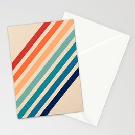 Vintage Retro 70s Rainbow Stationery Cards