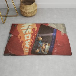 A-Z Animal, Cat Rally Driver - Illustration Rug