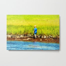 Young Fisherman Metal Print