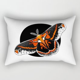 Robin Moth (Hyalophora cecropia)  |   BUGSPOTTING SERIES Rectangular Pillow