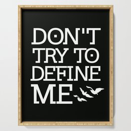 Don't Try to Define Me - Black (Divergent) Serving Tray