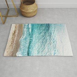 CLEAR BLUE SEA in Greece Rug