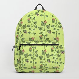 Cute Bugs Eat Green Plant Nature Lover Backpack