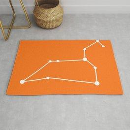 Leo (White & Orange) Rug
