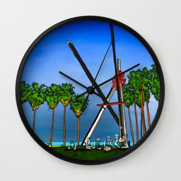 The Ghosts of Venice Beach Wall Clock