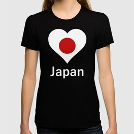 Heart Japan, love Japan, flag of Japan T-shirt