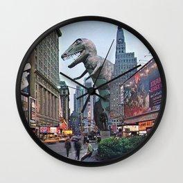 The Dinosaur Attack Wall Clock