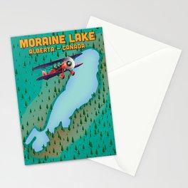 Moraine lake Alberta canada flight map Stationery Cards