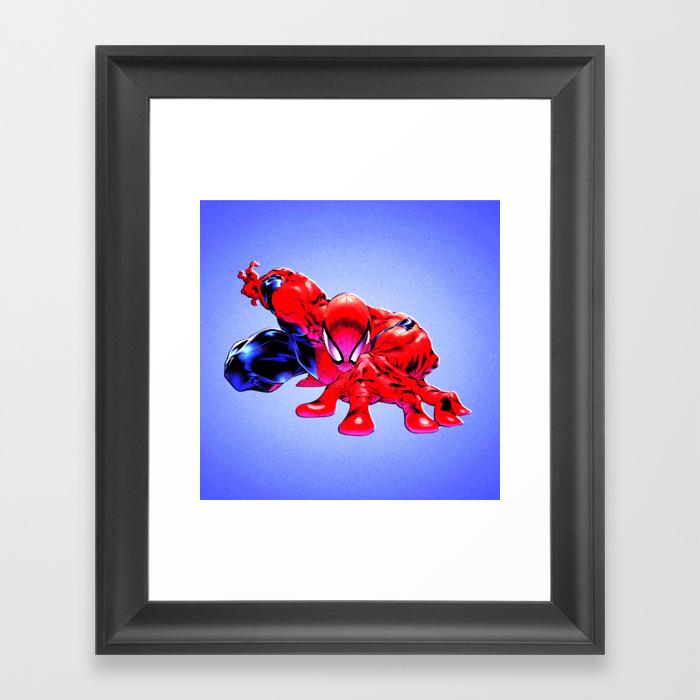Spider Man Framed Art Print by Blink13 FRM7909784