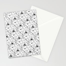 Cryptid Pattern: Ink Lines Stationery Cards