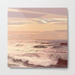 Sea waves at sunset #ocean #horizon #seascape Metal Print
