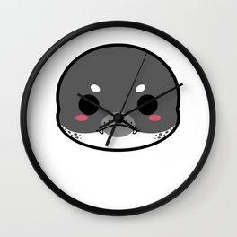 Cute Leopard Seal Wall Clock