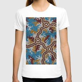 Authentic Aboriginal Art - Wetland Dreaming T-shirt