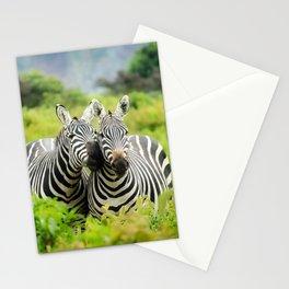 Zebra Couple Nuzzling with Love Stationery Cards