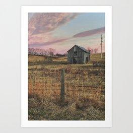 Winter Sunset in Sperryville, VA Art Print