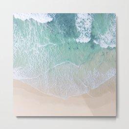 Green Ocean And Seashore Metal Print