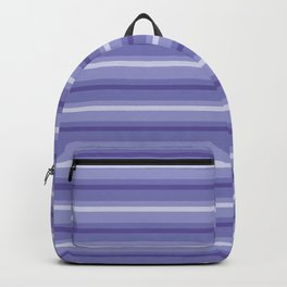 Purple and Lavender Stripes Pattern Backpack