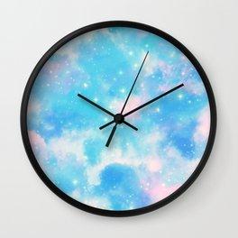 Pastel Cloulds Sky Seamless Nebula 309 Wall Clock