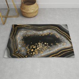 Agate Copper Gold Glam Night #1 #gem #decor #art #society6 Rug