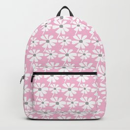 Daisies In The Summer Breeze - Pink Grey White Backpack