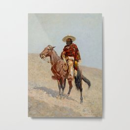 """Mexican Vaquero Horseman"" by Frederick Remington Metal Print"