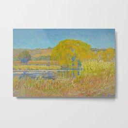 Willow Tree & Tidal Basin Sunrise landscape painting by J.H. Pierneef Metal Print