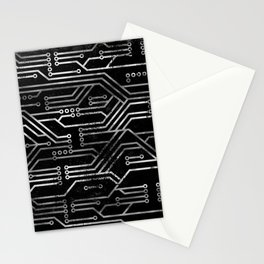 Circuit, tech electronics Stationery Cards