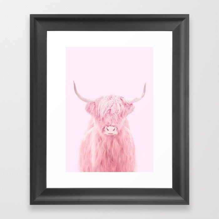 HIGHLAND COW Gerahmter Kunstdruck