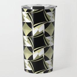 golden and black rhombus Travel Mug