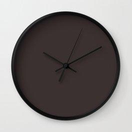 Simply Solid - Black Coffee Wall Clock