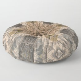 SOFT RAINY SEASCAPE MENDOCINO COAST OIL PAINTING Floor Pillow