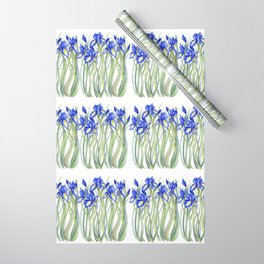 Blue Iris, Illustration Wrapping Paper
