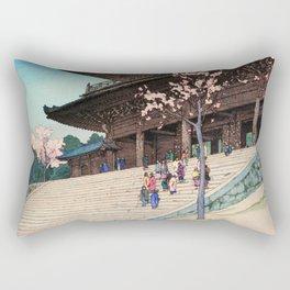 Yoshida Hiroshi - Cherry Blossoms 8scenes, Romon - Digital Remastered Edition Rectangular Pillow
