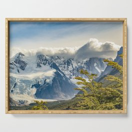 Snowy Andes Mountains, El Chalten Argentina Serving Tray