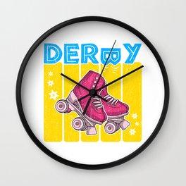 Roller Derby 70s Skate Disco - Pan Pride Wall Clock
