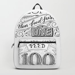 Feed just one Backpack