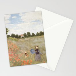 Poppies, Claude Monet, 1873 Stationery Cards