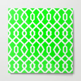 Grille No. 3 -- Lime Metal Print