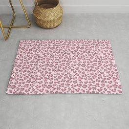 Baby pink Leopard Rug