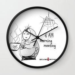 SKETCHY MORNING Wall Clock