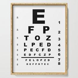 Eye Test Chart Serving Tray