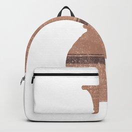 Minimal Abstract Greek Vase 17 - Hydria - Terracotta Series - Modern, Contemporary Print - Tan Backpack