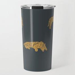 Blue Exotic Tiger Travel Mug