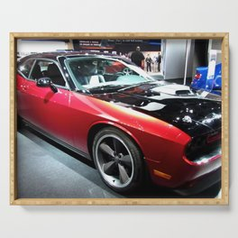 2014 Auto Show Prototype Scat Pack Two Tone Challenger with shaker hood Serving Tray