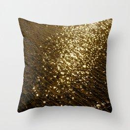 Golden Tide Throw Pillow