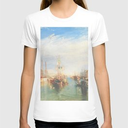 Venice from the Porch of Madonna della Salute by Joseph Mallord William Turner ca. 1835, British T-shirt