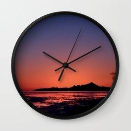 Mt._Iliamna Winter Sunset Wall Clock