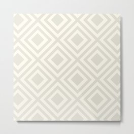 Diamond Classic Pattern Metal Print