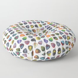 Guitar Picks Watercolor Floor Pillow