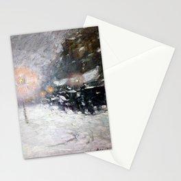 Childe Hassam Winter, Midnight Stationery Cards